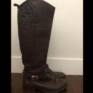 Tory Burch tall brown boots
